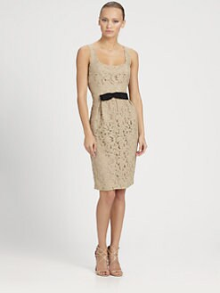 Moschino Cheap And Chic - Bow Lace Dress