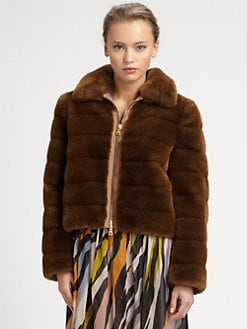 Moschino Cheap And Chic - Faux Fur Jacket