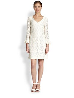 Moschino Cheap And Chic - Lace Ruffle-Cuff Dress