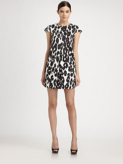 Moschino Cheap And Chic - Leopard-Print Satin Dress