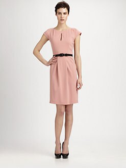 Moschino Cheap And Chic - Belted Keyhole Dress