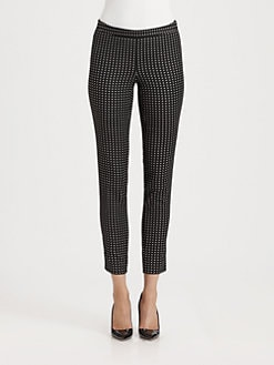 Moschino Cheap And Chic - Polka Dot Jacquard Cropped Pants