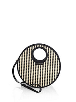 Marc by Marc Jacobs - Striped Woven Circle Crossbody Bag