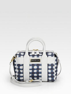 Marc by Marc Jacobs - Leather & Checked Canvas Satchel