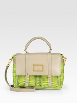 Marc by Marc Jacobs - Werdie Woven Mixed-Media Top Handle Bag