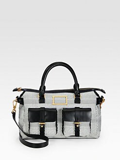 Marc by Marc Jacobs - Werdie Woven Mixed-Media Satchel