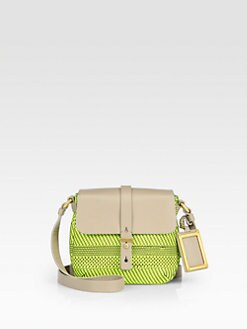 Marc by Marc Jacobs - Werdie Woven Mixed-Media Shoulder Bag