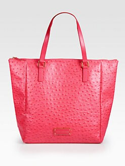 Marc by Marc Jacobs - Take Me Ozzie Ostrich Stamped Leather Tote