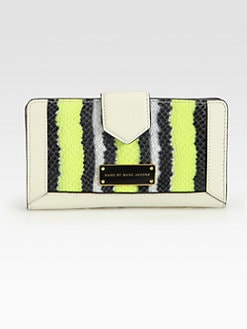 Marc by Marc Jacobs - Double Trouble Snake Embossed Leather Wallet