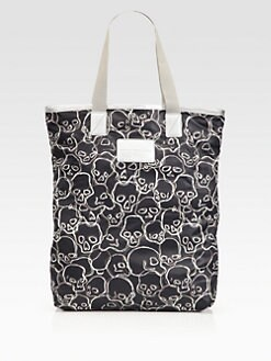 Marc by Marc Jacobs - Skull-Printed Packable Nylon Shopper