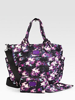 Marc by Marc Jacobs - Printed Nylon Elizababy Diaper Bag
