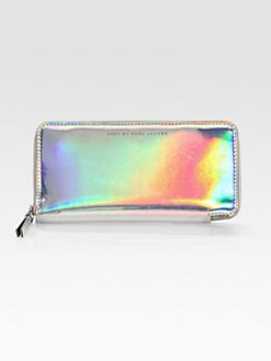 Marc by Marc Jacobs - Techno Holographic Leather Slim Zip-Around Wallet