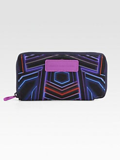 Marc by Marc Jacobs - Neon Lights Neoprene Slim Zip-Around Wallet