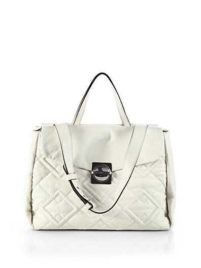 Circle in Square Quilted Satchel