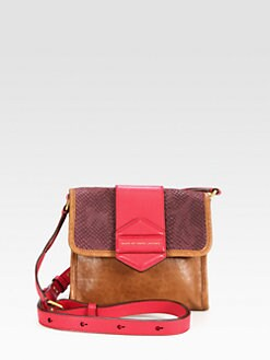 Marc by Marc Jacobs - Flipping Out Mixed-Media Colorblock Shoulder Bag