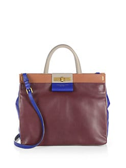 Marc by Marc Jacobs - East End Colorblocked Leather and Suede Shopper