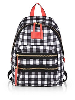 Marc by Marc Jacobs - Check-Patterned Nylon Packrat Backpack