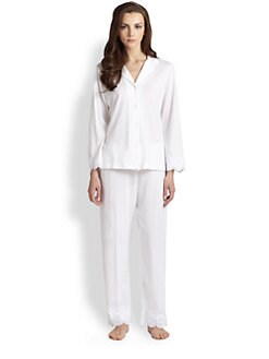 Oscar de la Renta Sleepwear - Classic Notch Collar Pajama Set