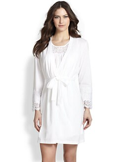 Oscar de la Renta Sleepwear - Cotton Robe