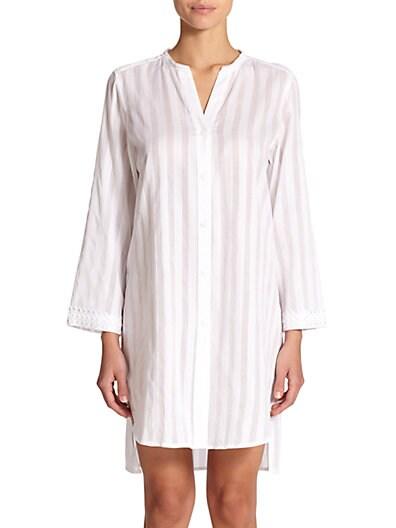 Shadow Stripe Cotton Sleepshirt