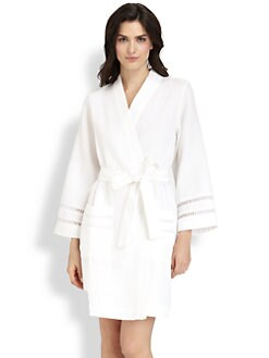 Oscar de la Renta Sleepwear - Spa Oasis Short Robe