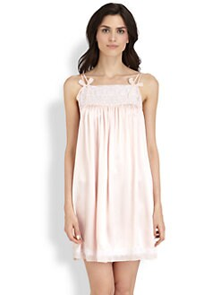 Oscar de la Renta Sleepwear - Bow Chemise