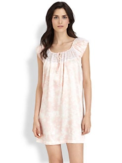 Oscar de la Renta Sleepwear - Printed Short Gown