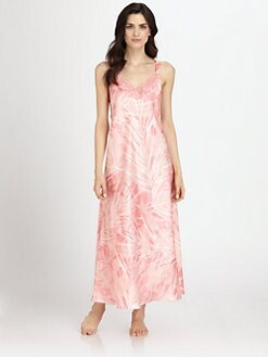 Oscar de la Renta Sleepwear - Long Printed Gown