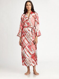 Oscar de la Renta Sleepwear - Modern Abstract-Print Long Robe