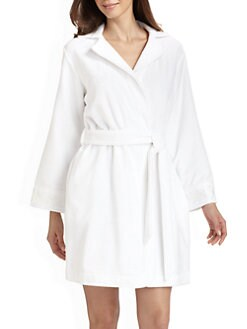 Oscar de la Renta Sleepwear - Short Terry Robe