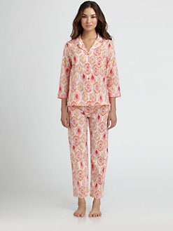 Oscar de la Renta Sleepwear - Ikat  Pajama Set