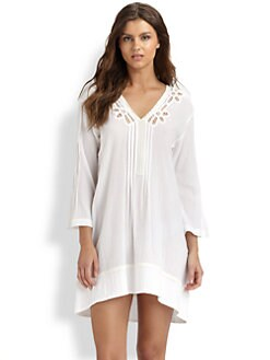 Oscar de la Renta Sleepwear - Cotton Gauze Sleepshirt