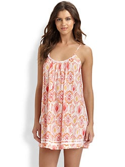 Oscar de la Renta Sleepwear - Ikat Medallion Print Chemise
