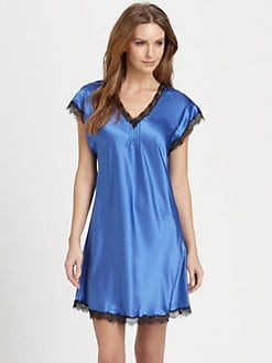 Oscar de la Renta Sleepwear - Charmeuse Sleepshirt