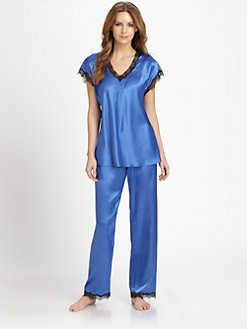 Oscar de la Renta Sleepwear - Charmeuse Pajamas