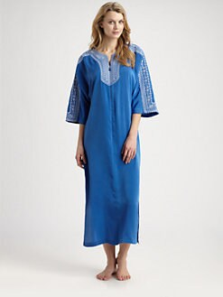 Oscar de la Renta Sleepwear - Embroidered Caftan