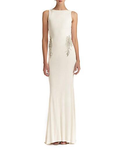 Beaded Back-Drape Gown $672.17 AT vintagedancer.com