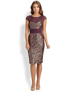 Badgley Mischka - Sequined Dress