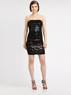 Mark + James by Badgley Mischka - Sequined Strapless Dress