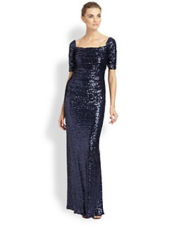 Badgley Mischka - Sequined Gown