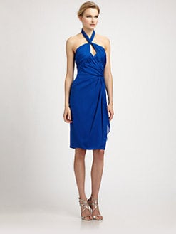 Badgley Mischka - Silk Halter Dress