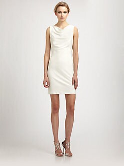 Badgley Mischka - Beaded Halter Dress