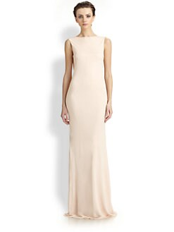 Badgley Mischka - Cowl-Back Gown