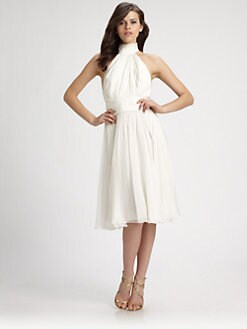 Mark + James by Badgley Mischka - Silk Halter Dress