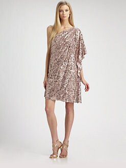 Badgley Mischka - Sequined Caftan Dress