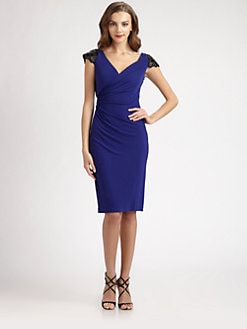 Badgley Mischka - Beaded Jersey Dress