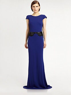 Badgley Mischka - Beaded Jersey Gown