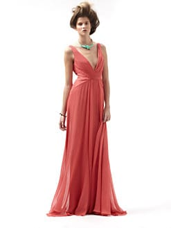 Badgley Mischka - Silk V-Back Gown