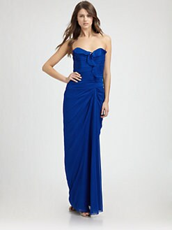 Badgley Mischka - Silk Gown