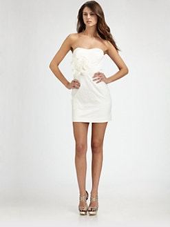 Mark + James by Badgley Mischka - Strapless Flower Dress